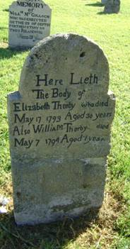 Thurby, Trimby Norfolk Island headstone