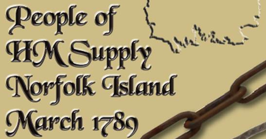 People of HM Supply Norfolk island March 1789